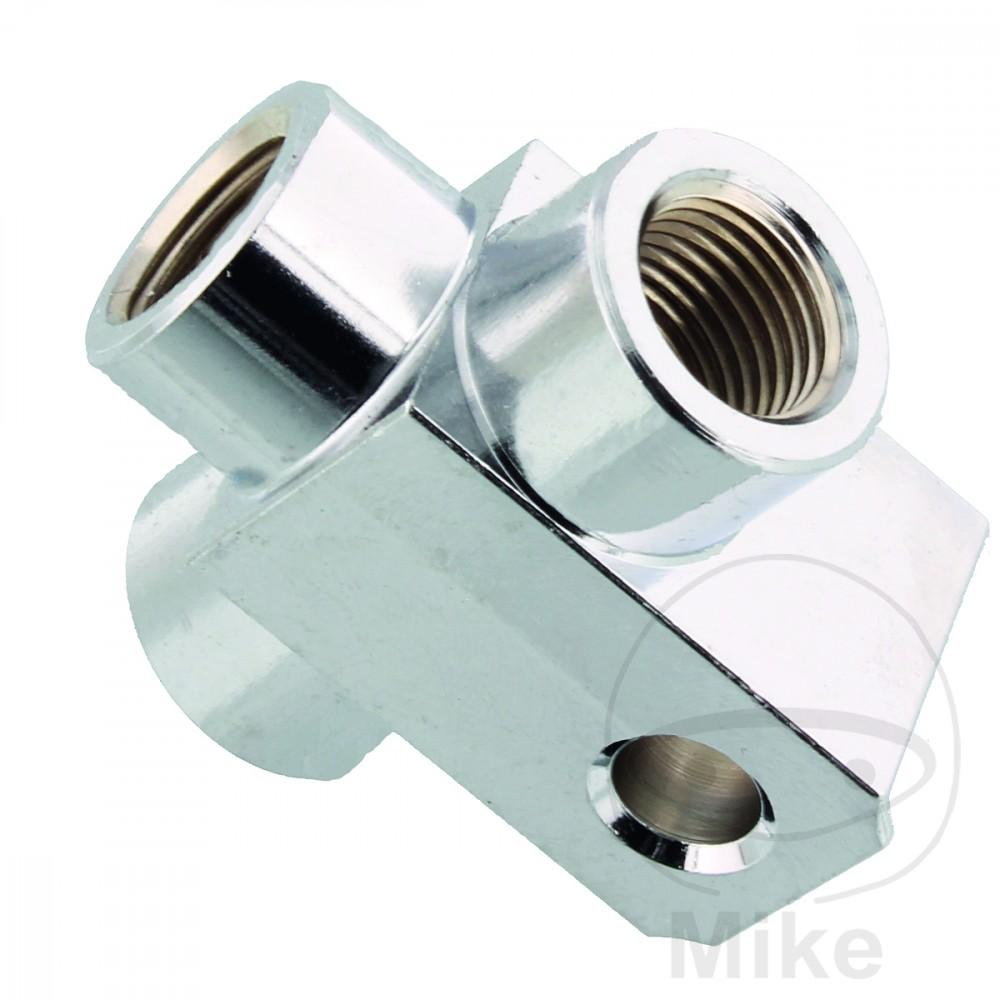 3 WAY MANIFOLD THREADED TYP813 CHROME